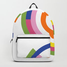 Bauhaus inspired design in a greenery palette Backpack