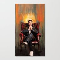 benedict Canvas Prints featuring Sitting Benedict by Wisesnail