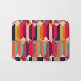 Geometric Icelandic Colors Bath Mat