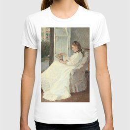 The Artist's Sister at a Window by Berthe Morisot T-shirt