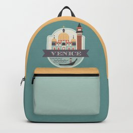 Venice Italy Badge Backpack