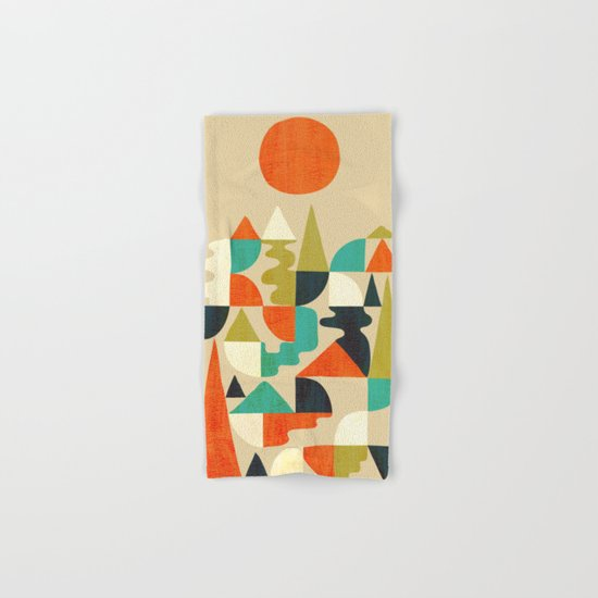 Mountains Hills and Rivers Hand & Bath Towel