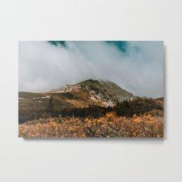 Mountain in the fog Metal Print