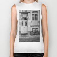 house Biker Tanks featuring House by Laura Arroyo