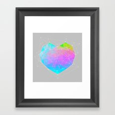 The Dots Will Somehow Connect (Geometric Heart) Framed Art Print