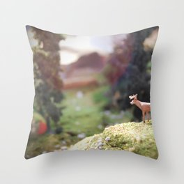 Temporary Happiness part 1 deer Throw Pillow