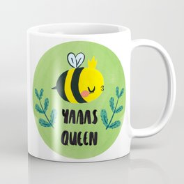 'Yass Queen' Queen Bee Illustration Coffee Mug