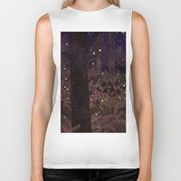 fireflies Biker Tanks featuring fireflies by Lara Paulussen