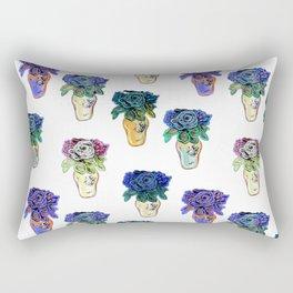 Beaded Floral Art Print by Annalee Beer Rectangular Pillow