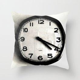 Four Nineteen Clock Throw Pillow