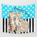 Bengal Cats Polka Dot Watercolor Love by eveystudios