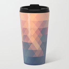 Retro Spatial Geometric Pattern Metal Travel Mug