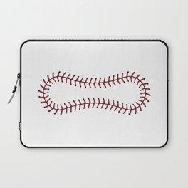 Baseball Lace Background Laptop Sleeve
