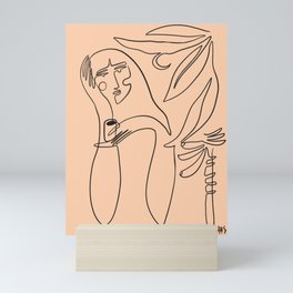 coffee and banana palms Mini Art Print
