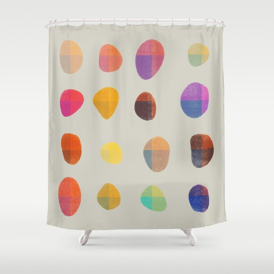 Painted Pebbles 4 Shower Curtain