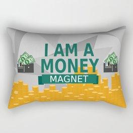 Positive Affirmation I am a money magnet Rectangular Pillow