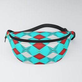 Turquoise geo 2 Fanny Pack