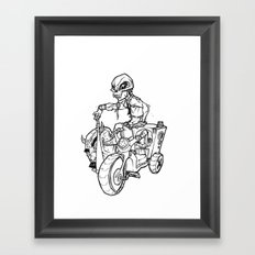 Skull Boy  on a Tricycle  Framed Art Print