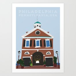 Philadelphia, Pennsylvania Travel Poster Art Print