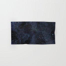 Antique World Star Map Navy Blue Hand & Bath Towel