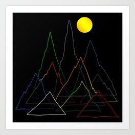 Mountans Lines Art Print