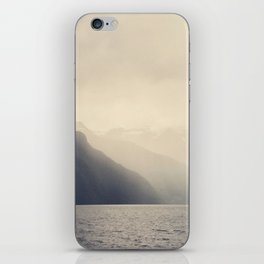 Foggy Fjord, North Sea iPhone Skin