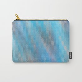 Washed Out Geometric: Blue, Grey and Pink Carry-All Pouch