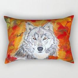 Autumn Wolf Rectangular Pillow