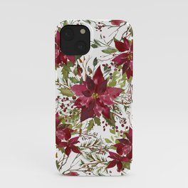 Poinsettia Flowers iPhone Case