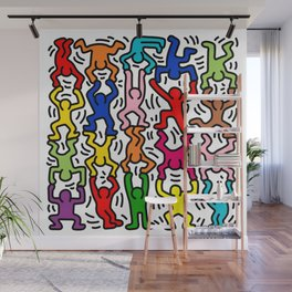Keith Haring Colour  Wall Mural