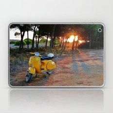Yellow Vespa Laptop & iPad Skin