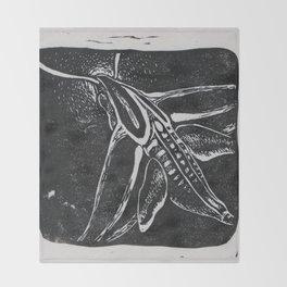The Hummingbird Moth Throw Blanket