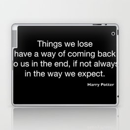 Harry P quote 2 Laptop & iPad Skin