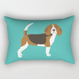Beagle cute dog gifts pure breed must haves beagles Rectangular Pillow