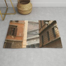 Street View of the Pantheon of Rome Rug