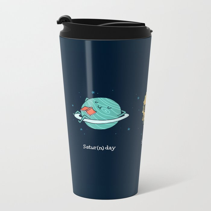 Moonday Metal Travel Mug