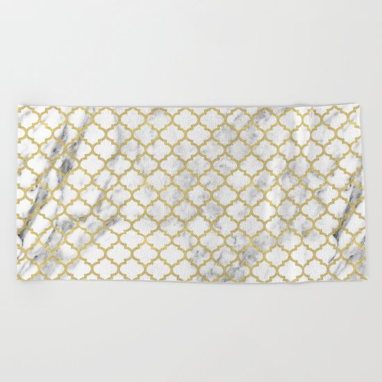 Moroccan marble Beach Towel