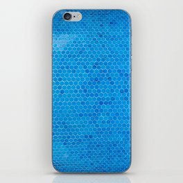 Turquoise Sequins iPhone Skin