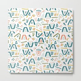 Geometric Triangle Metal Print