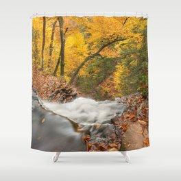 Autumn Waterfall Precipice Shower Curtain