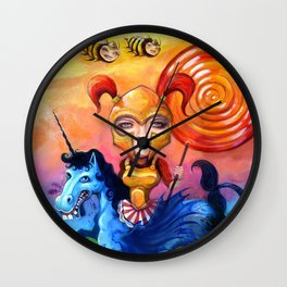 The Candy Warrior Wall Clock