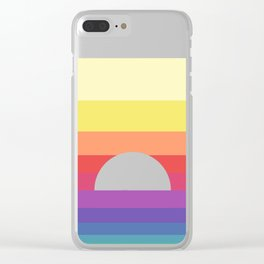 saturday sunset Clear iPhone Case