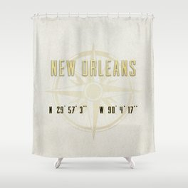 New Orleans - Vintage Map and Location Shower Curtain