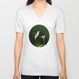 One Hummingbird Unisex V-Neck
