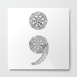 Semicolon Metal Print