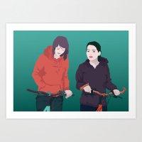 bike Art Prints featuring BIKE by ketizoloto