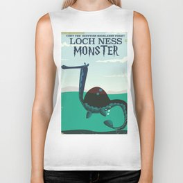 Loch Ness Monster vintage 'children's book' travel poster Biker Tank