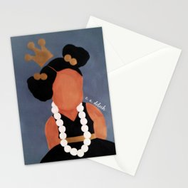 """Playing with Mommy's Pearls"" Stationery Cards"