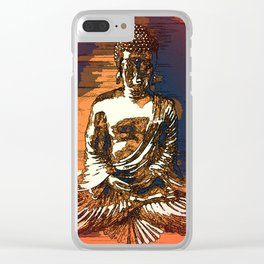 Looking For Buddha 20c Clear iPhone Case