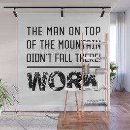 Work - Hustle Motivation for Entrepreneurs Fitness Trainer And Bodybuilder Wall Mural